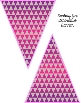 Bright & Modern Editable Bunting: Personalize your Banners!