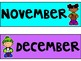 Bright Monthly Labels