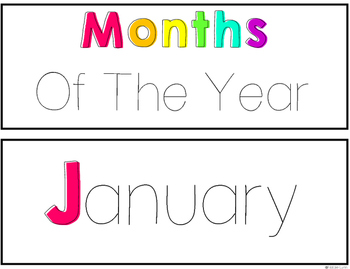 Bright Months of the Year Cards