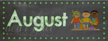 Bright Months of the Year Chalkboard Posters