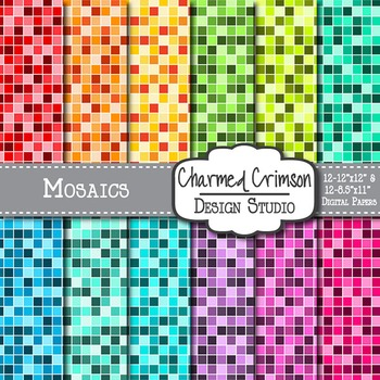 Bright Mosaic Digital Paper 1064
