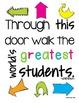 Bright Motivational Classroom Posters {Subway Art}