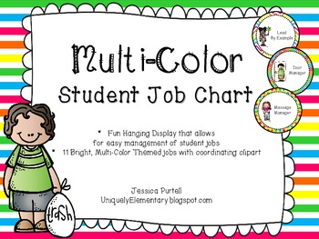 Bright, Multi-Color Student Jobs Chart