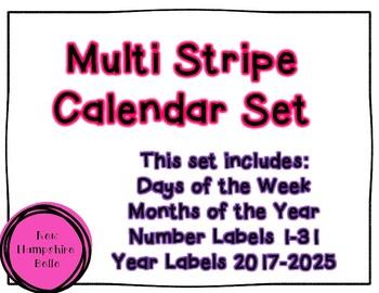 Bright Multi Stripe Calendar Labels