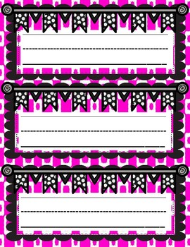 Bright Multi-colored Name Plates, Bulletin Board Labels or Word Wall Headings