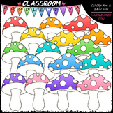 Bright Mushrooms Clip Art
