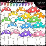 Bright Mushrooms Clip Art