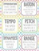 30 Music Flashcards + 30 Wall Cards - Tempo, Harmony, Rhythm, and more!