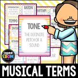 Back to School Music Term Cards and Posters