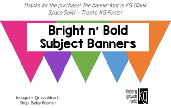 Bright N' Bold Subject Banners