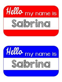 Bright Name Plates {Editable}