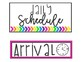 {EDITABLE} Bright, Neat, Clean Schedule Cards