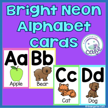Bright Neon Alphabet Cards