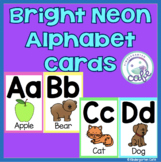 Bright Neon Alphabet Cards