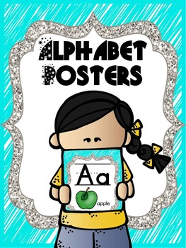 Bright Neon Alphabet Cards or Alphabet Posters