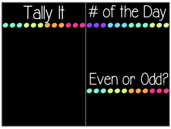 Bright Neon Calendar Time {BUNDLE}