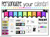 Bright Neon Calendar Time {BUNDLE}