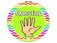 Bright Neon Chevron Hand Signal Chart