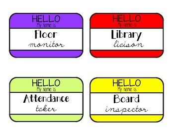 Bright Neon Class Job Chart