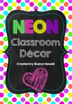 Bright Neon Classroom Decor