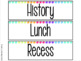 Bright Neon Classroom Schedule Cards & Labels