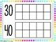 Bright Neon Days of School Tens Chart {FREEBIE}