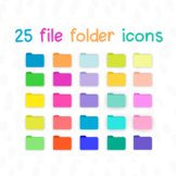 Bright + Neon Desktop File Folders for MAC / Apple | Color