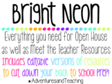 Bright Neon Open House and Meet the Teacher {BUNDLE} {EDITABLE}