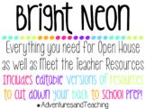 Bright Neon Open House and Meet the Teacher {BUNDLE} {EDITABLE}