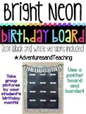 Bright Neon Picture Birthday Board