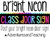 Bright Neon Picture Door Sign {Where are we?}