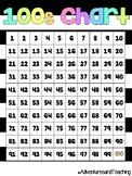Bright Neon Stripes Hundreds Chart {FREEBIE}
