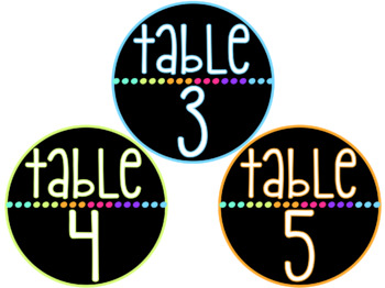 Bright Neon Table Signs