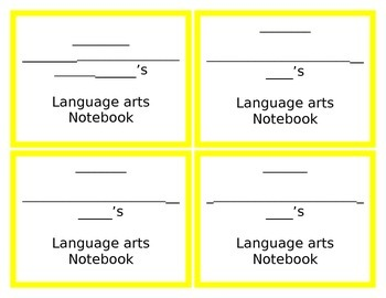 Bright Notebook Covers in Word