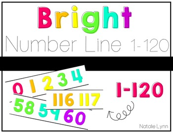 Bright Number Line 0-120