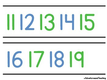 Bright & White Even Odd Number Line 0-120 {Simple}