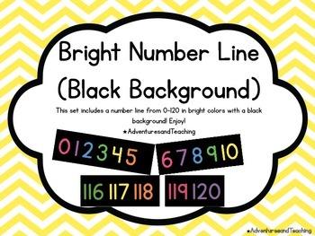 Bright & Black Number Line 0-120 {Simple}