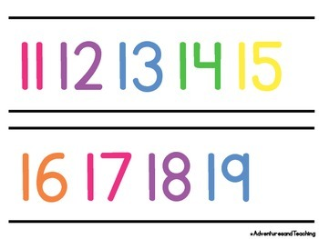 Bright & White Number Line 0-120 {Simple}