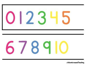 Bright & White Number Line 0-120