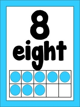 Bright Number Posters (1-20)