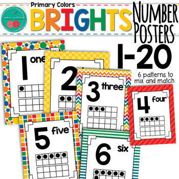 Bright Number Posters