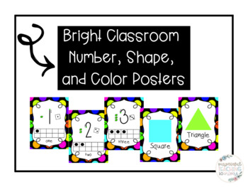 Bright Number, Shapes and Colors Posters
