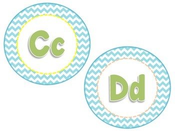 Bright Colored Chevron Oh the Places you'll go inspired Word Wall Letters