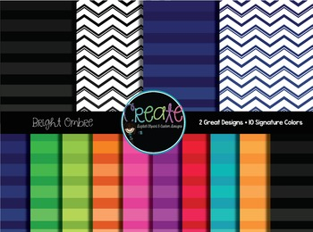 Bright Ombre - Digital Papers