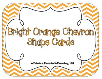 Bright Orange Chevron Shape Cards