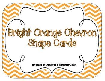 Bright Orange Chevron Shape Cards