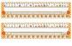 Bright Orange Polka Dot Desk Reference Nameplates