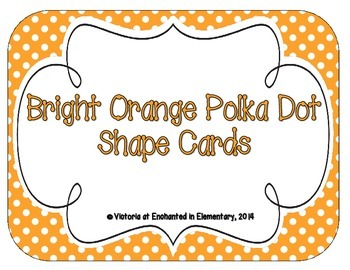 Bright Orange Polka Dot Shape Cards