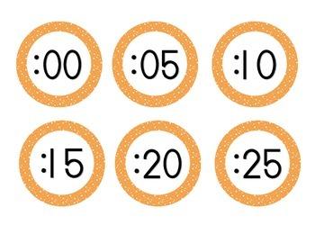 Bright Orange Starry Skies Clock Numbers
