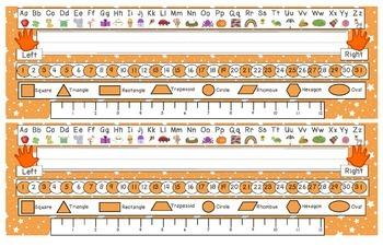 Bright Orange Starry Skies Desk Reference Nameplates Version 2
